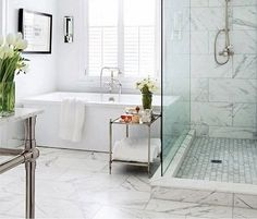 vloer hal?  29 white marble bathroom floor tile ideas and pictures