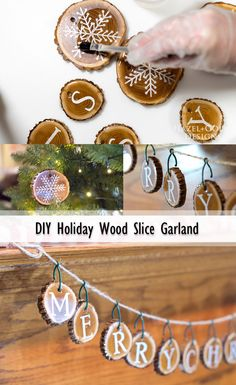 Holiday Wood Slice G