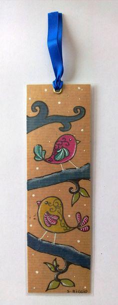 Marque-pages fait main - marque-pages petits oiseaux - marque-pages original petits oiseaux : Marque-pages par sabrina-riggio