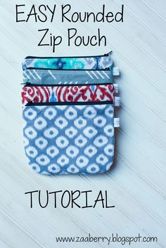 With the holidays kind of right around the corner, I started sewing up some little zip pouches with extra fabric in my stash. These po...