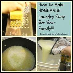 Tasty Tuesday: Homemade Laundry Soap - Raising Soldiers 4 Christ #homemadelaundrysoap #DIY #laundry #frugalliving
