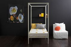 MM Four-Poster Bed - White -BACK IN STOCK AFTER 31ST AUGUST by Incy Interiors