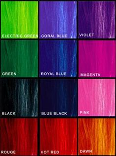 what crazy hair color would you prefer? Royal Blue and Magenta for me ! :)