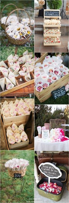 Wedding confetti wedding send off toss idea #wedding #weddingideas #romanticwedding #weddingsendoff #rustic http://www.deerpearlflowers.com/wedding-send-off-toss-ideas/