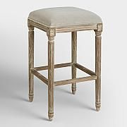 Dove Paige Backless Barstool Small Open Plan Kitchens, Open Plan Kitchen Living Room, Kitchen Reno, Kitchen Ideas, Kitchen Design, Metal Counter Stools, Kitchen Stools, Velvet Furniture, New Furniture