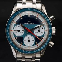 Beautiful Vintage Universal Geneve Compax #luxurywatch #Universal-Geneve Universal Geneve Swiss Watchmakers watches #horlogerie @calibrelondon
