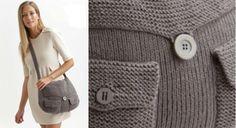 Le sac besace tricoté