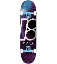"PLAN B Skateboard Complete BLACK HOLE 8.25″ Tensor Assembled: 7-Ply Canadian Maple Deck (8.25"") Tensor Aluminum Trucks 52mm TGM Wheels"