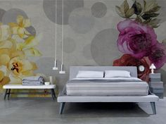Blumen- Tapete Panorama SHABBY CHIC Kollektion Inkiostro Bianco by Inkiostro Bianco Design Ink Lab