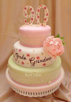 90th birthday cake for my great grandmother made by cakegirlkccom