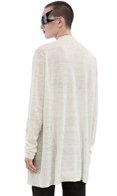 Acne Studios Paulin linen off white Oversized cardigan sweater
