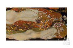 Water Serpents II, 1904-07 Giclee Print by Gustav Klimt at Art.com