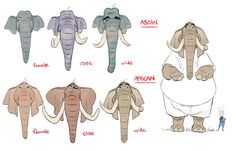 Shiyoon Kim-Different ideas on elephants for Zootopia