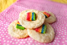 Tangy Lime Sugar Cookies (w/ Airheads Xtreme Bites)