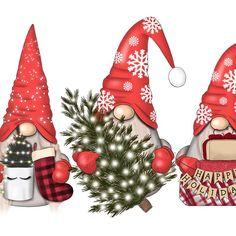 Christmas Pebble Art, Christmas Gnome, Christmas Art, Christmas Ornaments, Christmas Windows, Happy Paintings, Halloween Patterns, Printable Designs, Handmade Birthday Cards