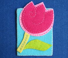 felt tulip- What bright lovely colors!