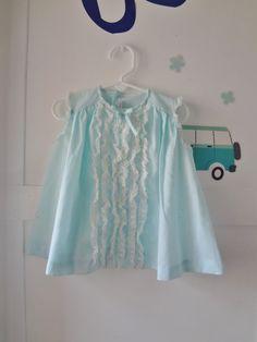 Vintage Nannette dress lace front dress powder by Lilacwinevintage