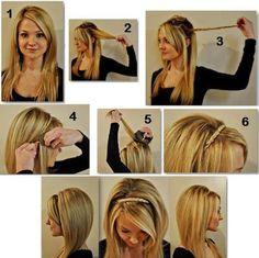penteados faceis de fazer 3 Penteados fáceis   Passo a Passo