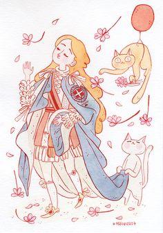 frannerd's blog: LET'S DRAW SOMETHING 7 ~ CAT HERO