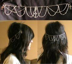 diy hair chain for elf, goth princess etc or even as a choker