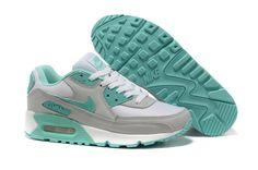 Nike Air Max 90 WoMen Grey Blue hot sale 198