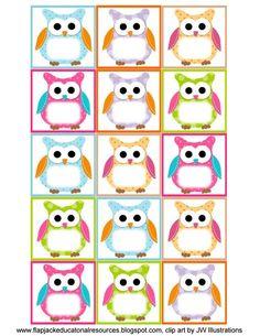 (Free Owl Label Templates) Back to School,Classroom,Classroom ideas,Fourth Grade, Owl Labels, Printable Labels, Owl Printable, Labels Free, Cubby Labels, Cubby Tags, Free Printables, Owl Theme Classroom, Preschool Classroom