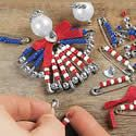 Red, White and Blue Patriotic Angel Craft Kit. Independence Day crafts for kids.
