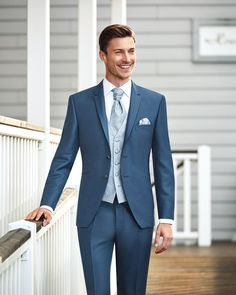 Stylishly and elegantly dressed in a blue suit from # . Stylishly and elegantly dressed in a blue suit from - Best Wedding Suits, Tuxedo Wedding, Perfect Wedding Dress, Wedding Attire, Blue Wedding, Light Blue Suit Wedding, Wedding Vest, Wedding Groom, Wedding Flowers