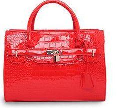 2015 hot designer famous brand patent leather crocodile pattern fashion handbags Platinum lock Tote Bolsas New Crossbody Bag