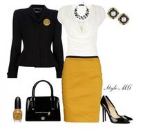 Pretty Outfit Idea for Work