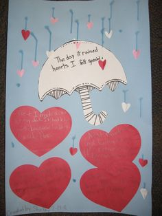 Activity with the book The Day it Rained Hearts