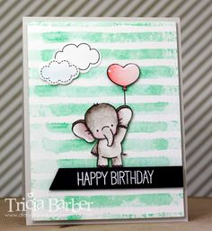 Diary of an Inky Girl…: Adorable Elephants Again! Baby Scrapbook, Scrapbook Cards, Kids Cards, Baby Cards, Stampin Up Weihnachten, Karten Diy, Mft Stamps, Animal Cards, Card Making Inspiration