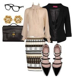 Office attire by sophistaglam on Polyvore featuring polyvore, fashion, style, Yves Saint Laurent, Boohoo, River Island, Zara, Hermès, Chanel and Tom Ford