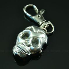 Quartz Keychian Watch Round Pocket Vintage Pirate Bone Skull