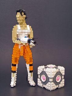 Portal + Legos = epic awesome.