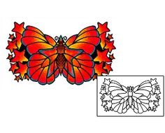 Butterfly Tattoos AAF-01482 Created by Andrea Ale
