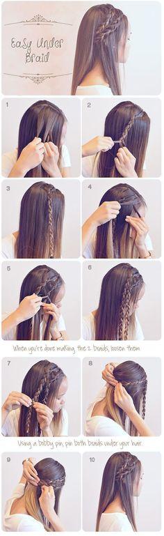 Easy Braided Hairstyles for Summer #hair #hairstyles #frisuren