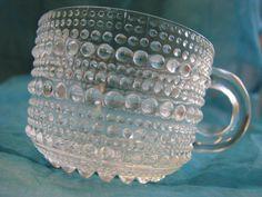 Arabia Iittala Kastehelmi 2 Coffee Cups Dewdrops – O. Vintage Coffee Cups, Glass Molds, Glass Design, Scandinavian Design, Clear Glass, Mid Century, Mugs, Beautiful, Tableware