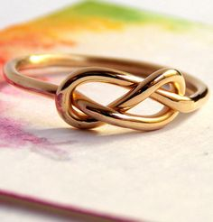 Infinity knot ring - Friendship ring