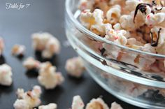 table for seven: Peppermint Bark Popcorn