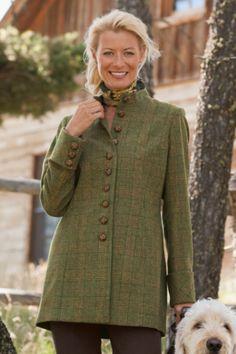 Cambridge Jacket - Stand Collar Plaid Jacket, Jackets & Coats, Clothing | Soft Surroundings Outlet