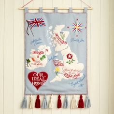 Ideal Home is auctioning off an original ACID member Jan Constantine wall hanging created exclusively for the cover of the magazine's May issue. My Dream Home, Decorating Your Home, Decor Styles, Ideal Home, Christmas Stockings, Charity, Needlework, Garden Design, Cross Stitch