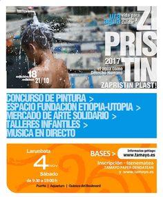 Mañana tenemos una cita! Recuerda que APLAZAMOS nuestro concurso de pintura #Zipristin en en puerto aquarium y quiosco del Bule de #Donostia #SanSebastian hasta el 4 DE NOVIEMBRE... eso es mañana mismo. Toda la info en la tienda y en nuestra web www. tamayo .es