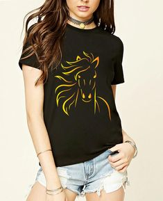 ab4b6ba2 8 Top Horse Themed Clothing images | Horse, T shirts, T shirts for women