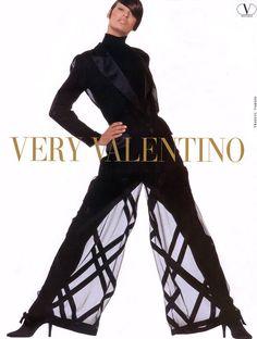LINDA EVANGELISTA  Valentino Ad  1992