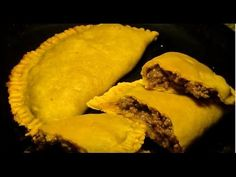 Jamaican Beef Patties (in Flaky Pastry) Recipe. With this Jamaican beef patties recipe, you can learn how to make a popular Caribbean appetizer that is Jamaican Beef Patties, Jamaican Patty, Oxtail Recipes, Beef Recipes, Cooking Recipes, Drink Recipes, Jamaican Dishes, Jamaican Recipes, Jamaican Desserts
