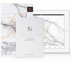 Letterpress & Foil Invitation Collection / Wedding Website / Copper / Black / White / Marble / Modern / Editorial Design / Bliss & Bone