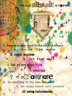 how to be......journal page