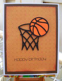 Handmade Happy Birthday / Dad / Baksetball card by nadyasworld, $2.50