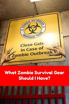 If the Zombie apocalypse happened right now, would you have the zombie survival gear you would need? #zombieapocalypse #survival #zombieweapons